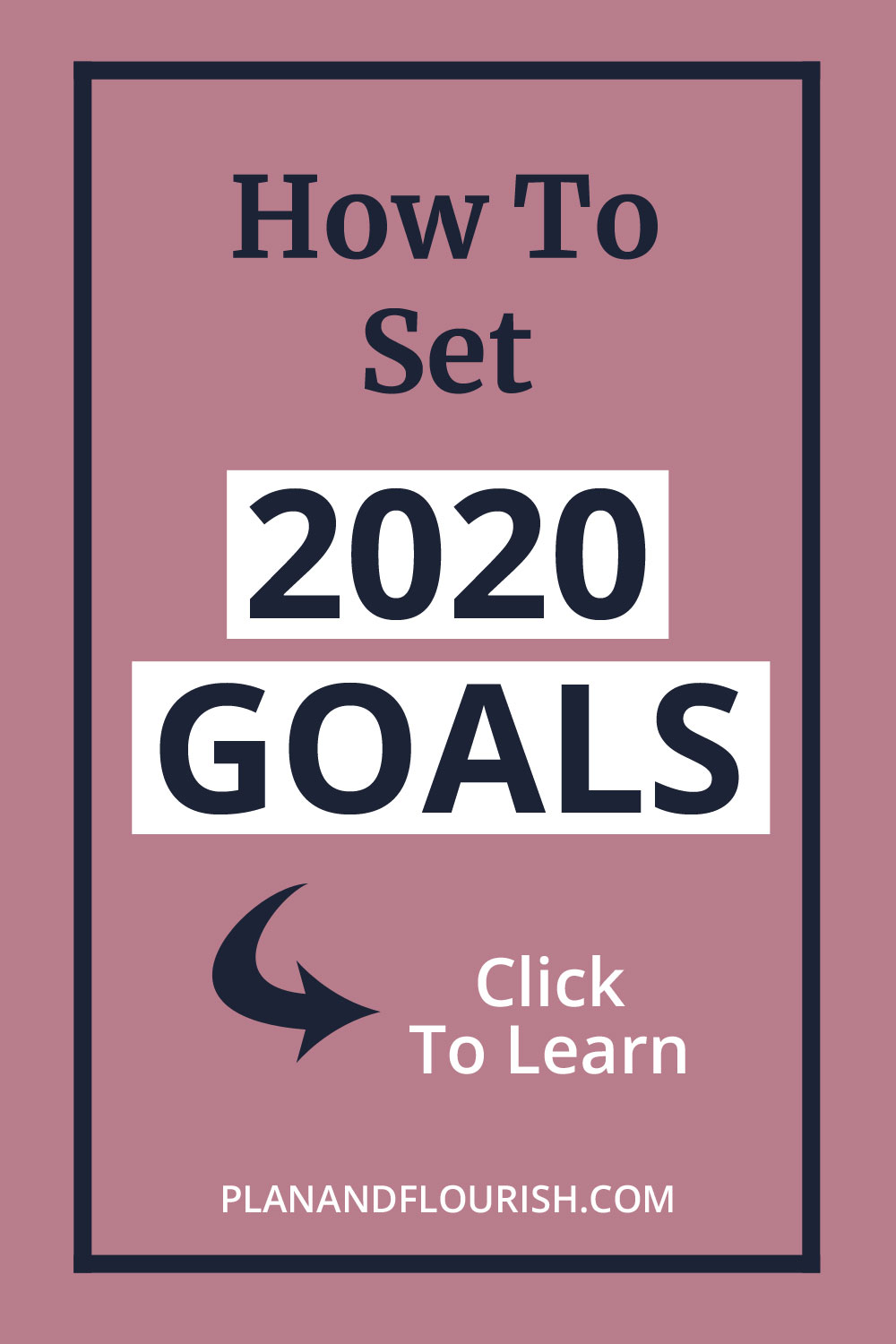 How To Set 2020 Goals