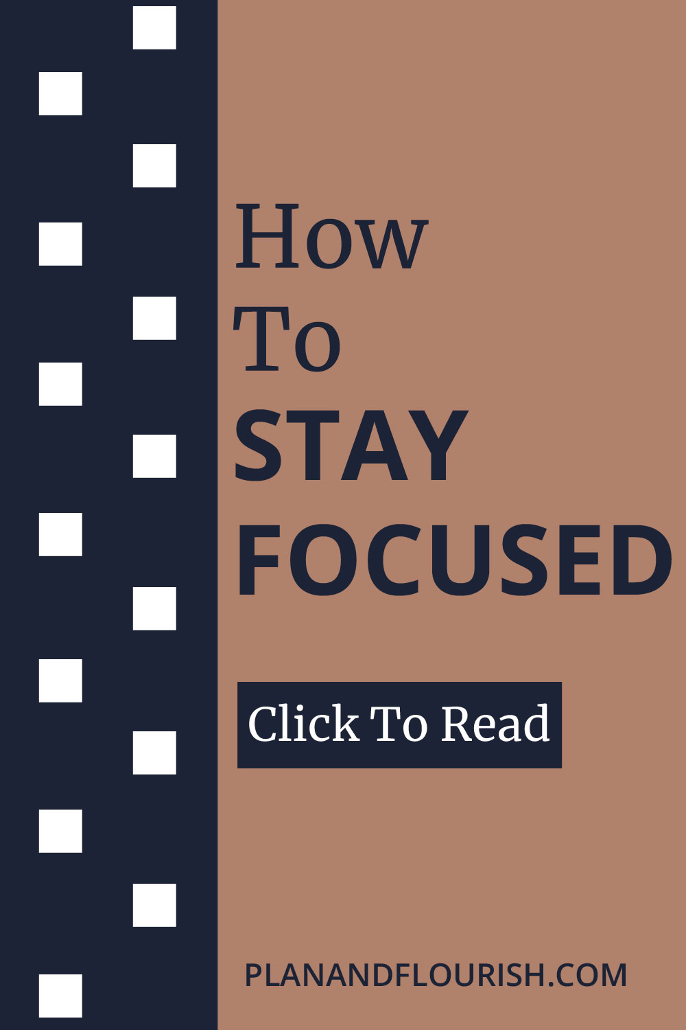 How To Stay Focused | Click To Read